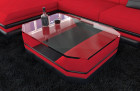 Modern fabric Leather Mix Coffee Table New York red - Mineva 20