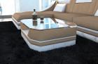 Modern fabric Leather Mix Coffee Table New York sandbeige - Mineva 6