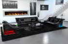 Modern sectional Sofa 3-2-1 New York with LED in black