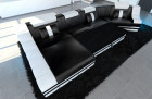 modern fabric sofa New York C Shaped with optional sofa bed