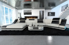 design sofa New York with LED ivory (Hugo 1)