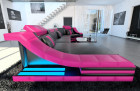 design sofa new york c shape black-pink