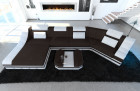 design sofa New York with LED darkbrown (Mineva 18)