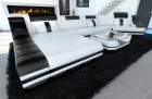 design sofa new york c shape white-black