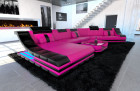 leather sofa new york CL  pink-black