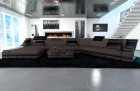 Fabric Design Sofa New York CL with LED brown (Hugo 9)