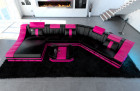 sectional sofa new york with led lights black-pink