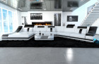 Luxury Sectional Sofa New York CL LED white-black
