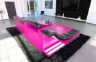 Luxury Sectional Sofa New York L Shape LED pink-black