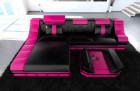 Design Sofa New York L Shape black-pink