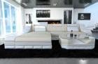 Luxury fabric Sofa New York wirh LED beige (Hugo 1)