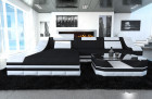 Fabric Design Sofa New York L with LED black (Mineva 14)