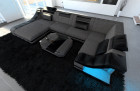 Luxury Sofa New York U Shaped black-grey (hugo 5)