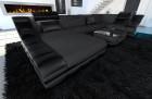 Modern Fabric Sofa New York with LED black-grey (mineva 8)