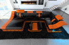 Sofa New York U Shape with LED Lights black-orange