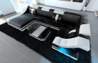 Design Sectional Sofa New York U Shape LED black- white