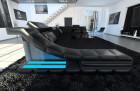 Luxury Sofa New York U Shaped black (mineva 14)