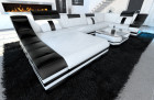 Luxury sofa New York white-black