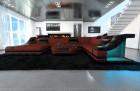 Modern Farbic Sofa New York with LED white-black (mineva 10)