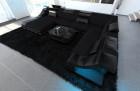 Fabric Design Sofa New York XL with LED black (mineva 14)