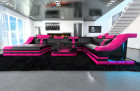 Mega Sofa New Yoerk XL in black- pink