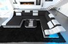 Luxury Fabric Sofa New York XL white-grey ( hugo 12)