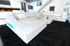 Modern Farbic Sofa New York with LED white-ivory (hugo 1)