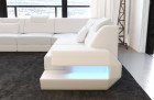 Design Sectional Sofa San Antonio U Shape whits LED and USB white