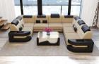 Design Sectional Sofa U Shape Microfiber - sandbeige Mineva 4