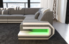Sectional Sofa San Antonio with LED Lights with stuctured fabric Hugo 5 - grey