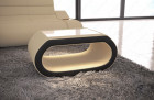fabric coffee table led lights - microfibre grey Mineva 4