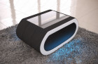design coffee table led lights - microfibre grey Mineva 14
