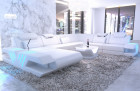 Designer sectional sofa Beverly Hills XXL with recamiere white