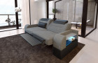 Two-seater sofa Parma fabric with electric relax function grey Hugo 5