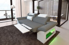 Two-seater sofa Chicago fabric with electric relax function - grey Mineva 15