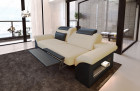 2 seater couch sofa Chicago with electric relax function - sandbeige Mineva 4