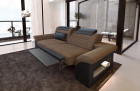 Two-seater sofa Chicago with relax function - dark brown Hugo 8
