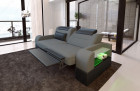 Two-seater sofa Parma fabric with electric relax function grey Mineva 15